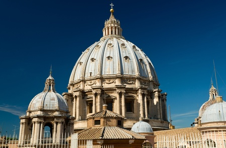 st  peter s  basilica: Dome of St  Peter s Basilica, Rome, Italy Editorial