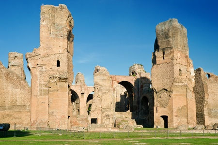 The ruins of the Baths of Caracalla, ancient roman public baths, Rome, Italy photo
