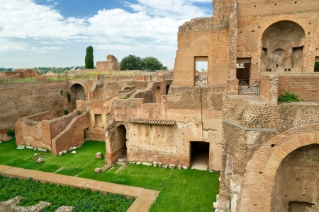 palatine: House of Augustus at the Palatine Hill in Rome, Italy Stock Photo