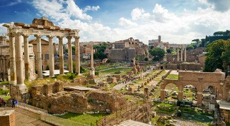 emporium: View of the Roman Forum in Rome, Italy