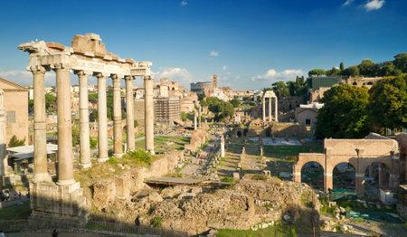 Vue du Forum romain à Rome, Italie