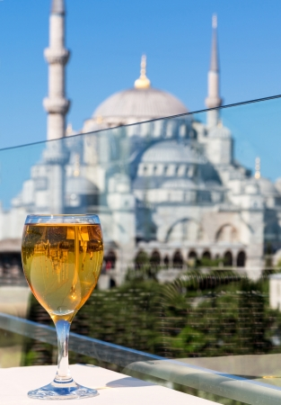 greatest: View of the Blue Mosque from the restaurant, Istanbul, Turkey  Blue Mosque  Sultanahmet Camii  is the greatest monument and tourist attraction
