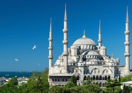 Vista de la Mezquita Azul de Sultanahmet Camii en Estambul, Turquía Foto de archivo - 20906738