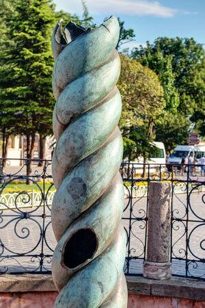 The Serpent Column in Istanbul, Turkey  Constantine the Great moved the Serpent Column from the greek Temple of Apollo at Delphi to the Hippodrome in Constantinople   photo