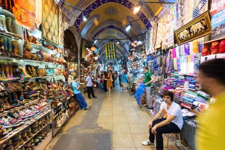 The Grand Bazaar on may 27, 2013 in Istanbul, Turkey  The Grand Bazaar is the oldest and the largest covered market in the world, with 61 covered streets and over 3,000 shops
