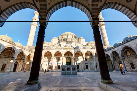 suleyman: The Suleymaniye Mosque on may 25, 2013 in Istanbul, Turkey  The Suleymaniye Mosque is the largest mosque in the city, and one of the best-known sights of Istanbul  Editorial