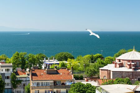 marmara: Sea of Marmara, view from Istanbul, Turkey Stock Photo