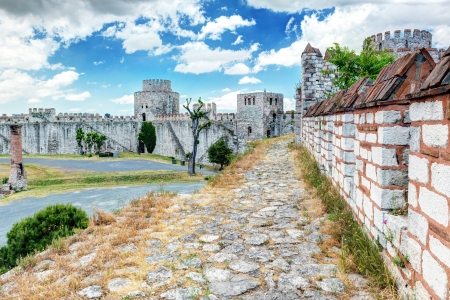 The Yedikule Fortress in Istanbul, Turkey  Yedikule fortress, or Castle of Seven Towers, is the famous fortress built by Sultan Mehmed II in 1458