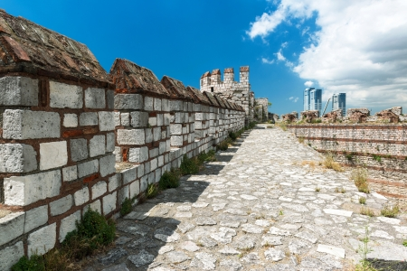 mehmed: The top of the wall of the Yedikule Fortress in Istanbul, Turkey  Yedikule fortress, or Castle of Seven Towers, is the famous fortress built by Sultan Mehmed II in 1458
