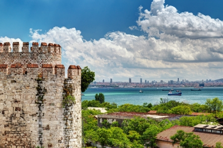mehmed: View of Istanbul from Yedikule Fortress, Turkey  Yedikule fortress, or Castle of Seven Towers, is the famous fortress built by Sultan Mehmed II in 1458