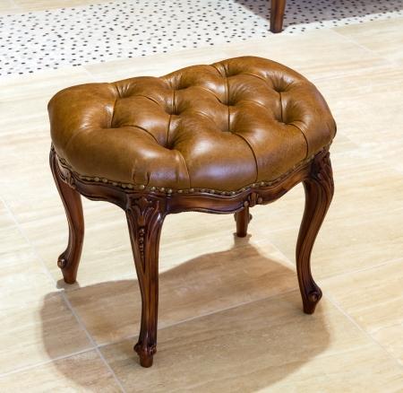 padded: Classic padded stool  Stock Photo
