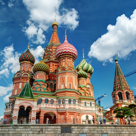 The St  Basil s Cathedral on july 13, 2013 in Moscow, Russia  St  Basil s Cathedral is a famous monument of Russian culture of the 16th century