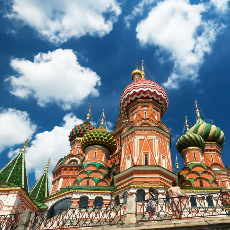 Saint Basil cathedral on the Red Square in Moscow, Russia   Pokrovsky Cathedral