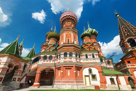 Saint Basil cathedral on the Red Square in Moscow, Russia   Pokrovsky Cathedral  Stock Photo - 21149469