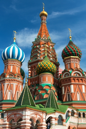 Saint Basil cathedral on the Red Square in Moscow, Russia   Pokrovsky Cathedral  Stock Photo - 21149497