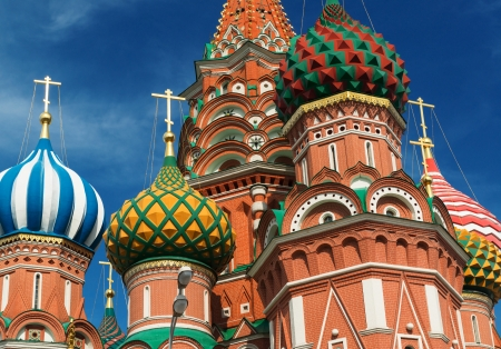 Saint Basil cathedral on the Red Square in Moscow, Russia   Pokrovsky Cathedral  Stock Photo - 21149611