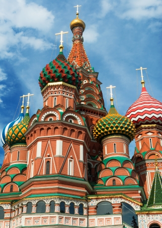 Saint Basil cathedral on the Red Square in Moscow, Russia   Pokrovsky Cathedral  Stock Photo - 21149615