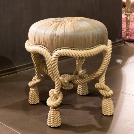 Classic padded stool Stock Photo - 21149799