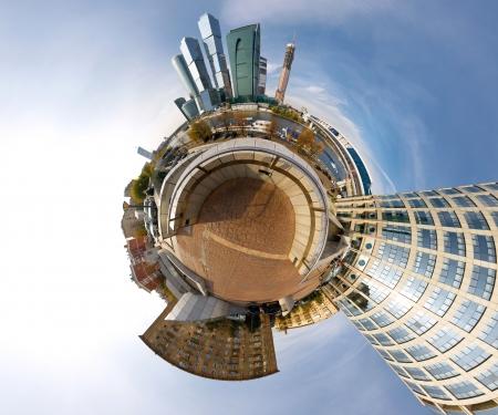 Moscou-ville centre d'affaires sphérique panorama, la Russie Banque d'images - 21150038