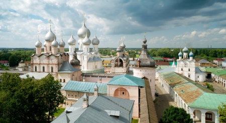 veliky: Kremlin of ancient town of Rostov the Great, Russia.  Stock Photo