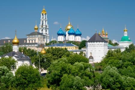 sacred trinity: The great monastery in Sergiev Posad near Moscow, Russia, 2011  Stock Photo