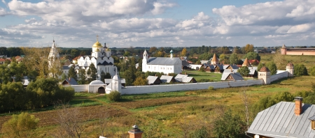 intercession: Convent of the Intercession  Pokrovsky monastery  in the ancient town of Suzdal, Russia Stock Photo
