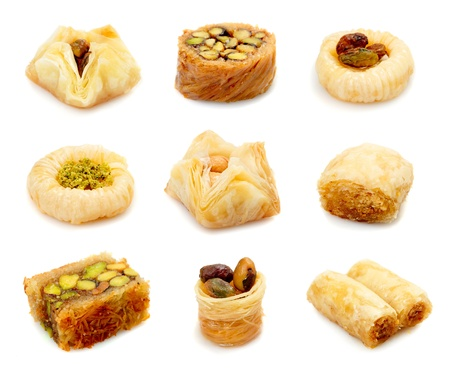 sweets: Oriental sweets on a white background