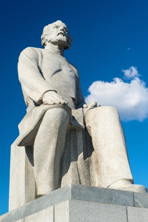 astronautics: Statue of Konstantin Tsiolkovsky, the precursor of astronautics, in Moscow, Russia Editorial