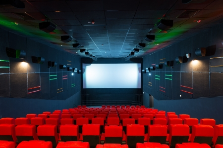 Modern cinema auditorium photo
