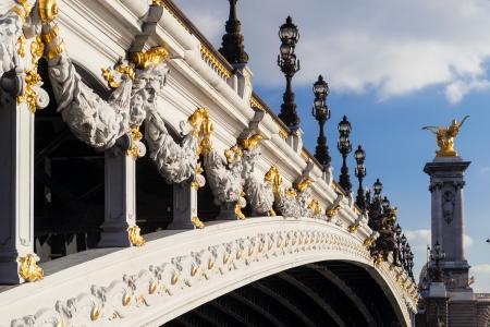 Alexander III bridge in Paris, France