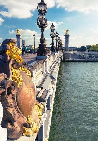 alexandre: Alexandre III bridge in Paris, France Stock Photo