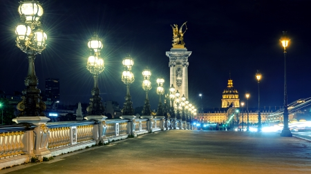 alexandre: Alexandre III bridge at night in Paris, France