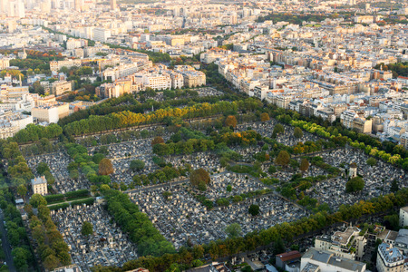 View of Montparnasse Cemetery from the Montparnasse Tower photo