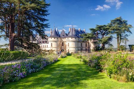 Chateau de Chaumont-sur-Loire, Francia Este castillo está situado en el valle del Loira, fue fundada en el siglo 10 y fue reconstruida en el siglo 15 Foto de archivo - 26060713