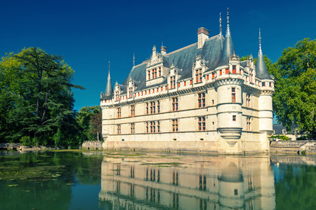 french renaissance: The chateau de Azay-le-Rideau, France  This castle is located in the Loire Valley, was built from 1515 to 1527, one of the earliest French Renaissance chateaux