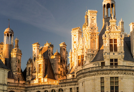 chambord: The royal Chateau de Chambord at sunset, France  This castle is located in the Loire Valley, was built in the 16th century and is one of the most recognizable chateaux in the world