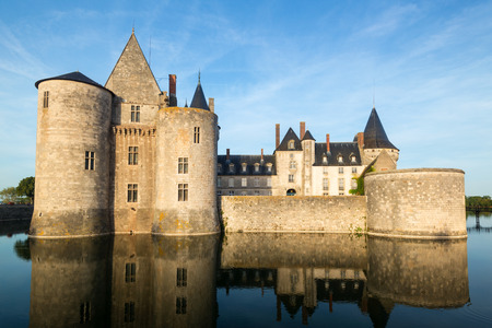 sully: The chateau of Sully-sur-Loire, France  This castle is located in the Loire Valley, dates from the 14th century and is a prime example of medieval fortress