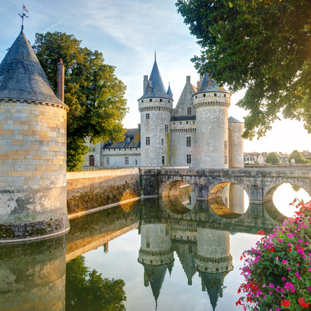 The chateau of Sully-sur-Loire, France  This castle is located in the Loire Valley, dates from the 14th century and is a prime example of medieval fortress