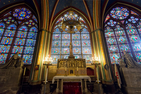 Interior of the Notre Dame de Paris on september 25, 2013 in Paris  The cathedral of Notre Dame is one of the top tourist destinations in Paris