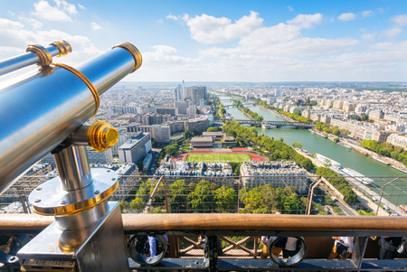 The viewpoint in the Eiffel Tower in Paris, France Stock Photo