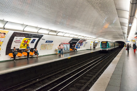 blanche: Blanche Metro station in Paris, France