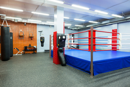 Empty hall for boxing in the gym on september 17, 2013 in Moscow  Young people in Russia are increasingly visiting gyms  新闻类图片