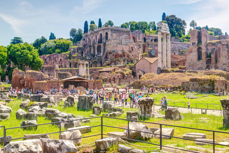 emporium: Roman Forum on may 10, 2014 in Rome, Italy  The Roman Forum is an important monument of antiquity and is one of the main tourist attractions of Rome