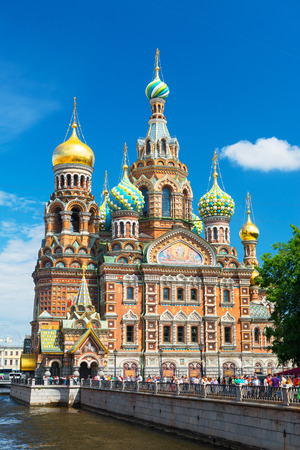 Church of the Savior on Spilled Blood  Cathedral of the Resurrection of Christ  in Saint Petersburg, Russia