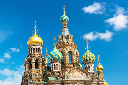 Eglise du Sauveur sur la cathédrale de Sang de la Résurrection du Christ à Saint-Pétersbourg, Russie Banque d'images