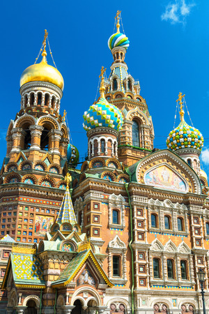 Church of the Savior on Spilled Blood  Cathedral of the Resurrection of Christ  in Saint Petersburg, Russia photo