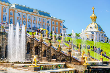 Peterhof Palace with Grand Cascade  The Peterhof