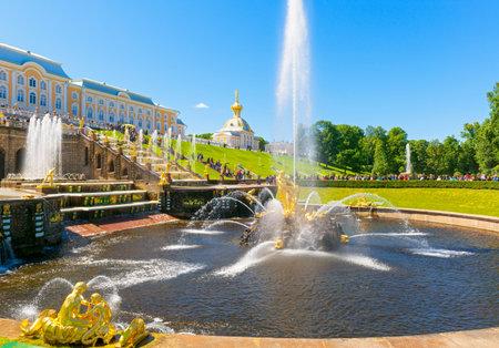 Grand Cascade and Samson Fountain in Perterhof Palace  Saint Petersburg, Russia