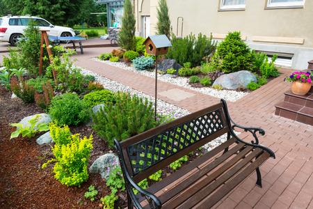 A beautiful home garden, near Moscow
