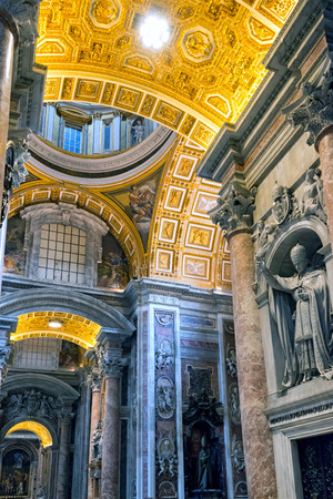 st  peter s  basilica: Interior of St  Peter s Basilica in Rome